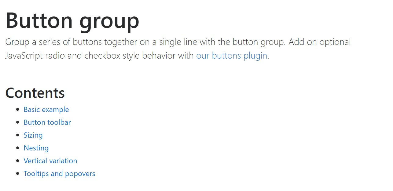 Bootstrap button group  formal  documents
