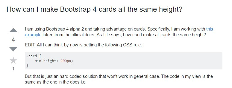 Insights on  just how can we  create Bootstrap 4 cards  all the same tallness?